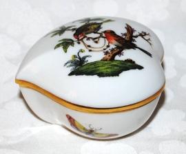 Hartvormig  Dekselbakje - Herend Rothschild Bird