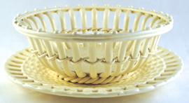 Mand met Onderschotel Creamware (1850) - Waechtersbach Keramik