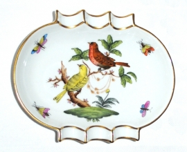 Asbak (13,8 cm.) - Herend Rothschild Bird