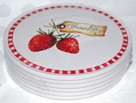 Onderzetters Strawberry (6) - Jet
