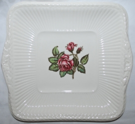 Gebak- / Broodschaal - Wedgwood Moss Rose