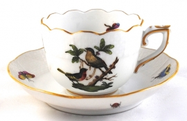 Kop & Schotel VII (6,9 cm.) - Herend Rothschild Bird