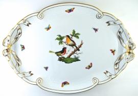 Dienblad met Strikken (40,5 cm.) - Herend Rothschild Bird