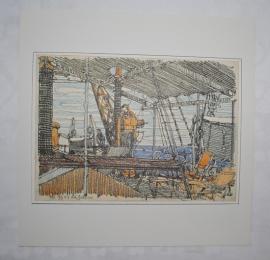 Aan boord van de Grotius -  H.P. Berlage