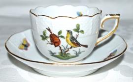 Kop & Schotel II (6,9 cm.) - Herend Rothschild Bird