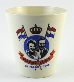 Beker Beatrix-Claus 1966 - Boch Belgium
