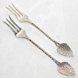 2 Zilveren Zuurvorkjes