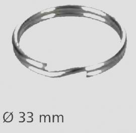 Stainless steel slit ring 33 mm