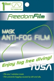 Tusa Mask anti-fog film for 1 window mask