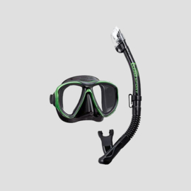 Tusa Snorkelset Powerview Adult Dry Combo