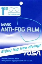 Tusa Mask anti-fog film for 2 window mask