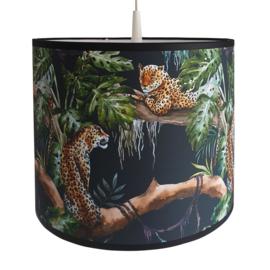 Kinderlamp luipaarden zwart
