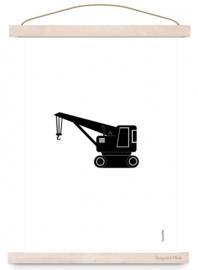 Poster A3 Kraanwagen met of zonder naam