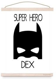 Poster Super Hero met naam