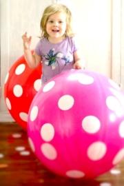 XXL Polkadot ballon roze