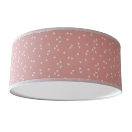 Plafondlamp Triangle roze