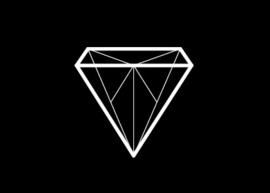 Kaartje Diamant zwart