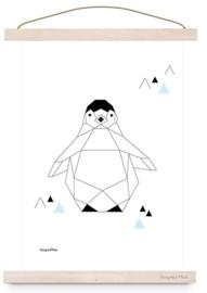 Poster geometric Pinguin