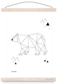 Poster geometric IJsbeer