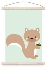 Poster Eekhoorn pastel