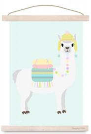 Poster Lama pastel