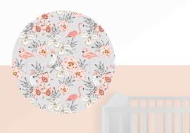 Muurcirkel Flamingo