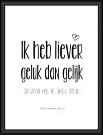 Poster geluk