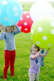 XXL Polkadot ballon blauw