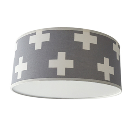 Plafondlamp Plusjes grijs