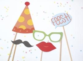 Verjaardagskaart Gekheid op een stokje