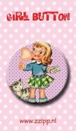 Button bubble gum girl