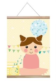 Poster Dans meisje A4
