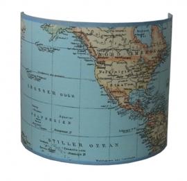 Wandlamp wereldkaart klein