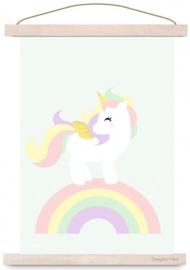 Poster Unicorn Pastel met of zonder naam