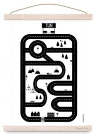 Poster A3 Autobaan met of zonder naam