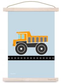Poster A3 Kiepwagen met of zonder naam