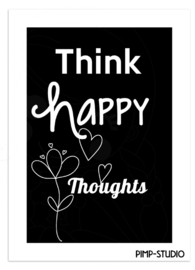 Poster Happy thoughts