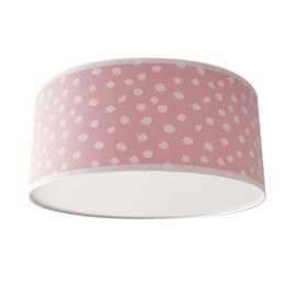 Plafondlamp stip poederroze