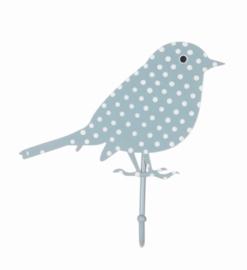 Haakje Vogel blauw