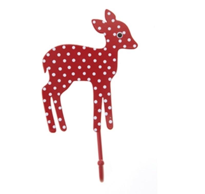 Haakje Bambi rood met stip