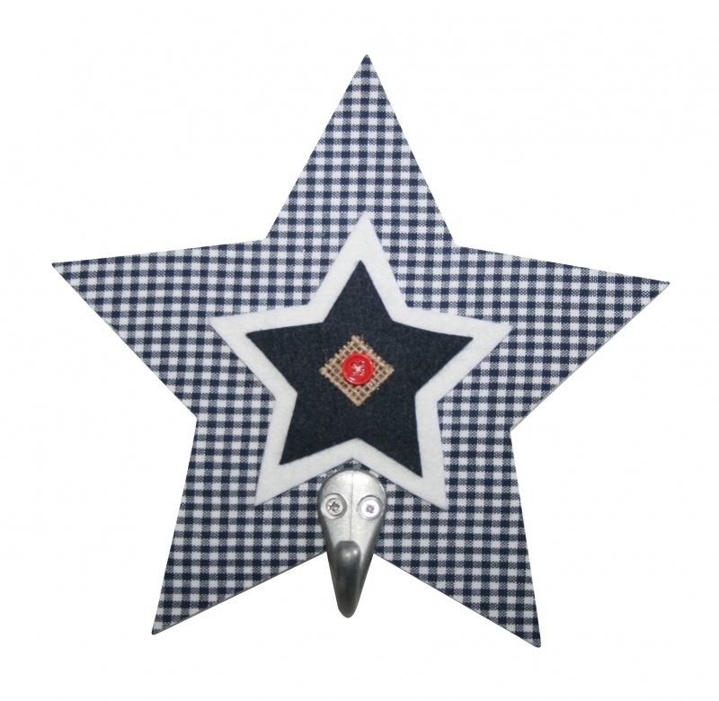 Haakje ster blauw