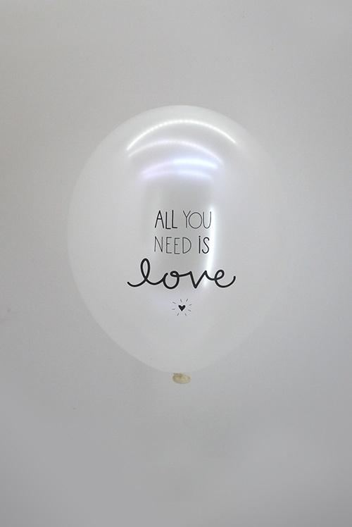 Ballonnen All you need is love 6 stuks