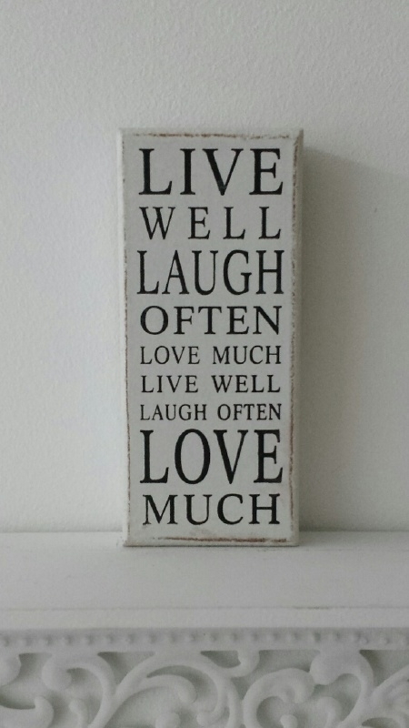 Tekstbord Live well