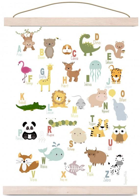 Poster alfabet dieren