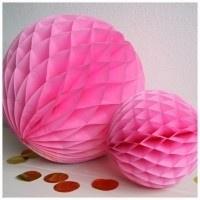 Honeycomb ball lichtroze L of M