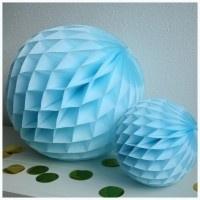 Honeycomb ball lichtblauw L