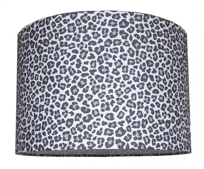 Lampenkap Leopard grijs