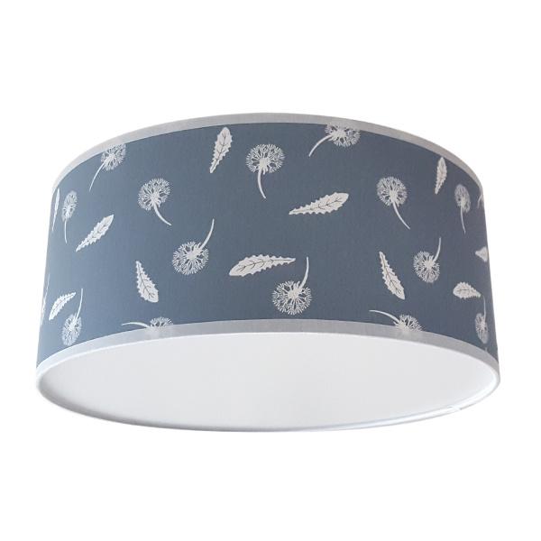 Plafondlamp Paardenbloem en veren oudblauw