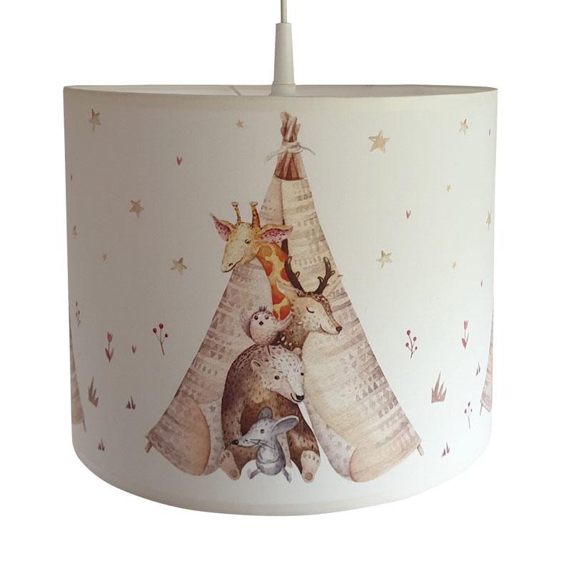 Kinderlamp Aquarel Tipi Bosdiertjes