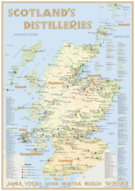 "Map ""Scotland's Distilleries"" 2021 Edition -Medium -  42 x 60 cm"
